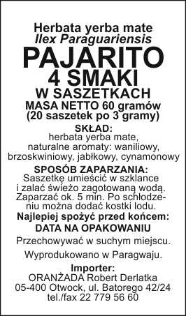 PAJARITO_4_SMAKI_szaszetki_na_paczke