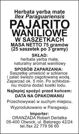 PAJARITO_Waniliowe_szaszetki_na_paczke