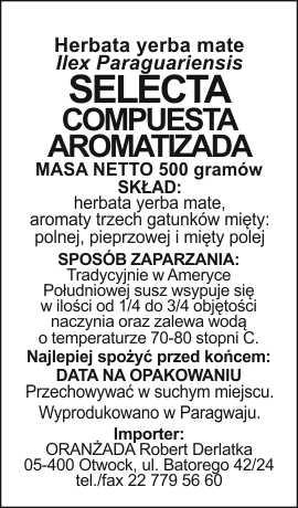 Selecta_Compuesta_Aromatizada_na_paczke