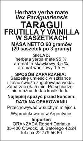 TARAGUI_FRUTILLA_Y_VAINILLA_szaszetki_na_paczke