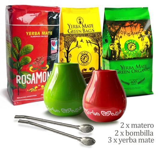 zestaw z yerba mate rosamonte